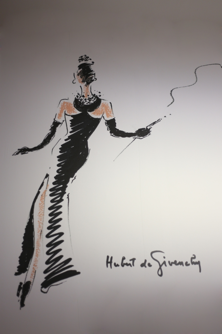 Givenchy fashion illustration Brreakfast at Tiffany´s