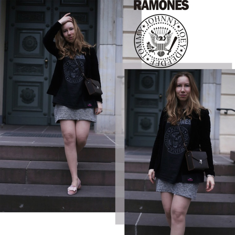 Ramones Bandshirt rose velvet Loafer Living like Golightly